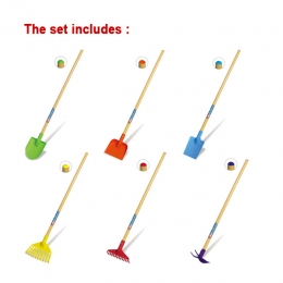 60pcs Colorful Kids' Garden Tools (with Display)
