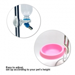 2-in-1 Pet Standing Food Bowl with Water Dispenser