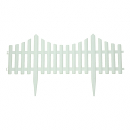 Flexible White Picket Fence
