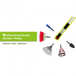 Multifunctional Handle for Garden Tools and Home Improvement
