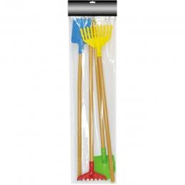 4pcs Kids' Garden Tools (Shovel, Spade & Rake Set)