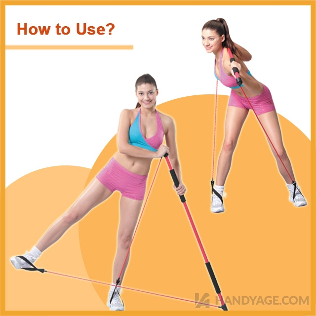 Fitness Bar with Elastic Tubing