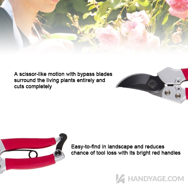 Aluminum Bypass Pruning Shears