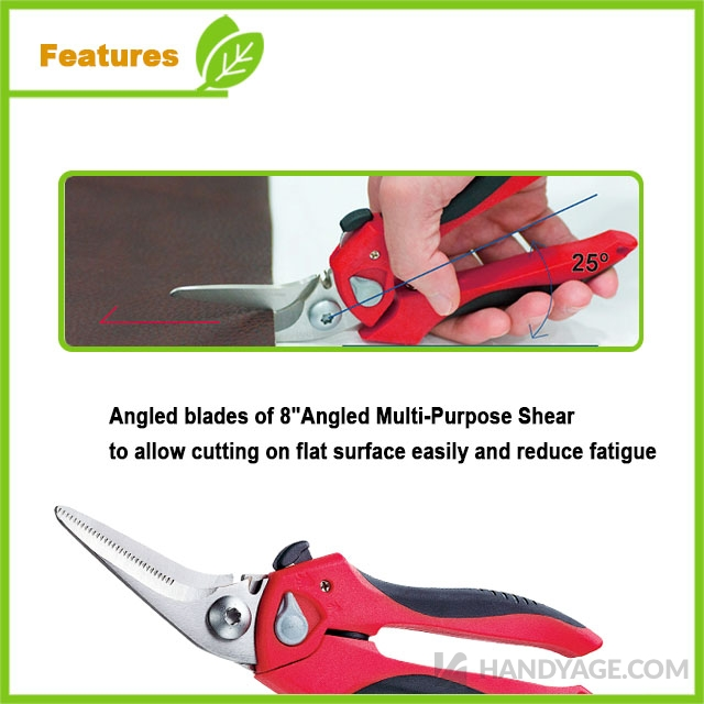 "8"" Angled Multi-Purpose Shears"