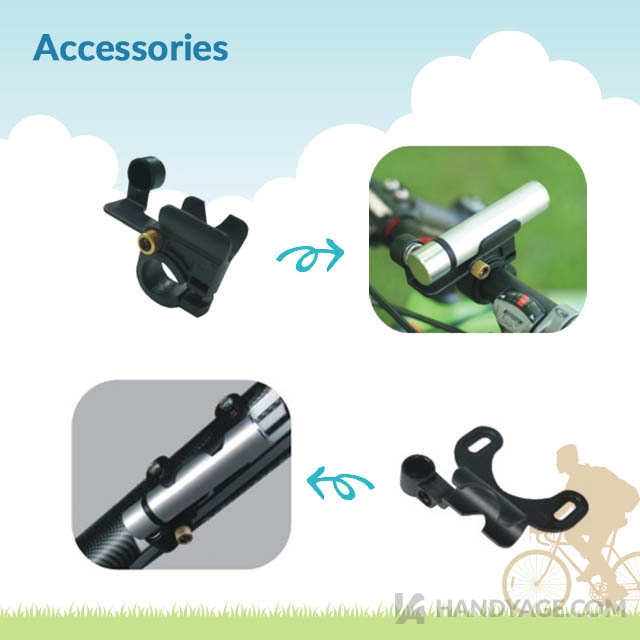 Reversible Mini Bike Pump
